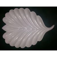 HANDCRAFTED MARBLE CARVED LEAF PLATE