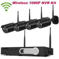 Black 4CH 1080P WIFI NVR Kit