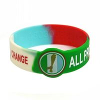 Debossed Filled Segmented Silicone Bracelets with Custom Print