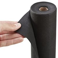 Black weed control mat weed barrier fabric