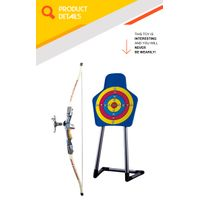 Indoor shooting target game professional bow and arrow set for kids thumbnail image