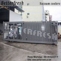 Made in china lettuce Green Vacuum cooler sliding door on the market