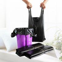 Wholesale Black Color cheap thick T shirt bag shopping bag thumbnail image