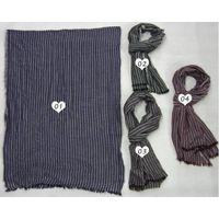 100%cotton scarf stright strips scarf automn/winter scarf for men PG939 thumbnail image