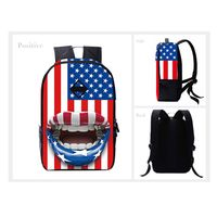 Custom's Design Wholesale Cheap Funny Flag Sublimation Printed Personalized Kids Backpacks for Schoo
