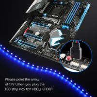 LED Strip Light RGB for 12V Motherboard Control / PC Computer case 50CM 1M 2M with 4 Pin RGB-Header( thumbnail image