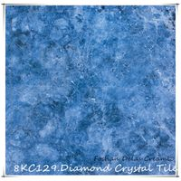 8KC129 Sky Blue Diamond Crystal Floor Tile Azulejo De Porcelana