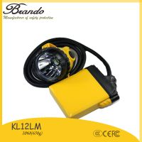 KL12LM 25000lux corded Mining Caplamp, 4 levels lighting