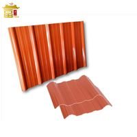 Corrugated APVC Roofing Sheet Heat Resistant Corrugated PVC Roof Tile Roof Building Materials thumbnail image