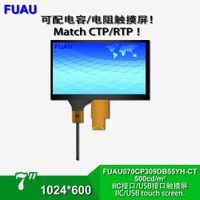 7-Inch TFT LCD Module with CTP 1024600 Resolution