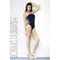 Hot Italian Brazilian One-piece swimsuit Ladies Swimwear with Sexy Cut-outs at Waist Strings around