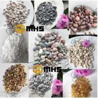 Various color size Natural Purple Tumbled Pebble Stone for decoration thumbnail image