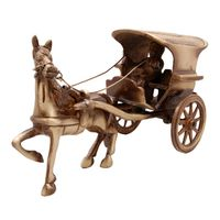 Decorative Beautiful Horse Cart Made By Brass Metal Showpiece by Aakrati