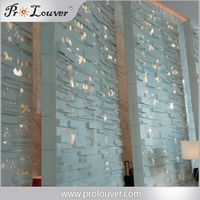 cnc laser cut aluminum screen for hotel lobby decoration