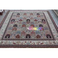 hand-made silk carpet