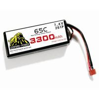 Leopard Power high rate Lipo battery for rc heli 3300mah-2S-65C