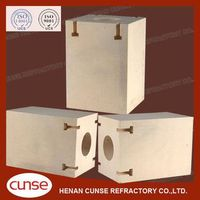 qualified manufacturer Zircon Mullite refractory brick for glass kiln