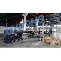 Large diameter PVC pipe extrusion line