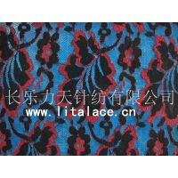 M1385 leaf with black and red lace fabric thumbnail image