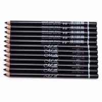 3 PCs Perfect Waterproof Longlasting Black Eyeliner Make Up Tool Eyebrow Eye Pencil & Brush Makeup
