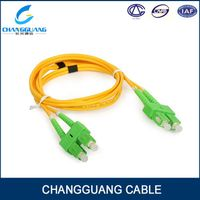 Patch cord single mode fiber optic SC-FC armored patch cord