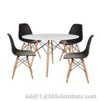 plastic dining chair and table eames chair and table