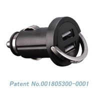 2.4A Dual USB mini Car charger car power adapter car cigar lighter adpater