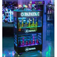 Three Layers Champagne Wine Cabinet Display with LED Screen   thumbnail image