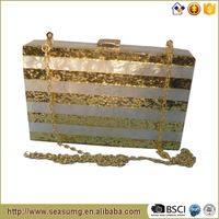 View larger image Wholesale Marble Acrylic Confetti Stripes Women EveningClutch Bag Wholesale Marbl