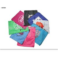 Most popular custom poylester drawstring bags for promotion