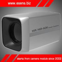 Megapixel HD-SDI Camera, Sony CMOS, 18x Zoom, 1,080-pixel HD, 12V DC Power Supply