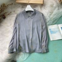 Silk Shirt with Lace Collar thumbnail image