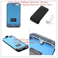 Power Bank 2200mah External Charger for iphone 5 Backup Battery Cover Case for iphone5