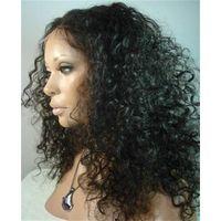 hot sale wholesale curly Brazilian 100% raw virgin human hair full lace wig thumbnail image