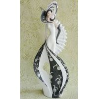 Blcak and white design Europe lady 2014 new style beauty sexy girl figurine
