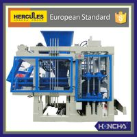 Fully-Automatic Hollow Concrete Block Making Machine,HONCHA QT6-15 block making machine
