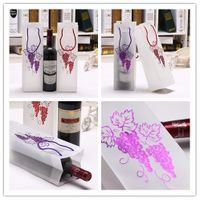 Fashionable Translucent PP Plastic Red Wine Bottle Liquor Gift Shopping Bag with Hot Stamping
