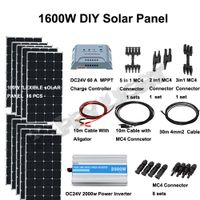 1600W DIY SOLAR ENERGY SYSTEM FOR HOME USE