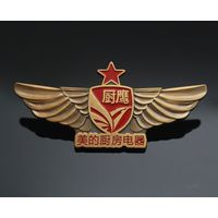 Wholesale custom metal antique brass decorative badges