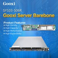 1U Server 3 motherboards 6 hdd barebone Gooxi SY103-S06R blade server Storage server