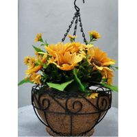 Metal Hanging Planter Basket with Coco liner
