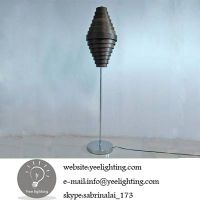 bamboo floor lamp rustic floor lamp e27 60w black thumbnail image
