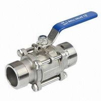 ball valve with outside thread end