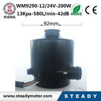 12/24VDC blower with double blade ,high efficiency,and good quality