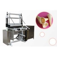 Safety Effeciency Gas Type Wafer Cone Cup Bowl Baking Making machine|wafer ice cream cone machine