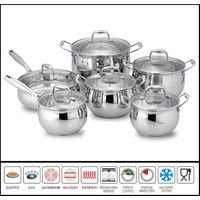 12Pcs Stainless steel belly shape cookware set Sc520