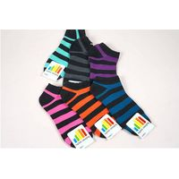 women striped ankle socks