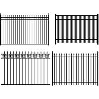 Factory supply high quality  Color Ornamental Aluminium  Fence attractive appearance