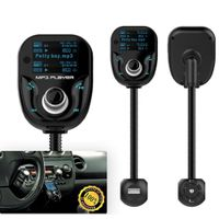 Travel Bluetooth FM Transmitter Car Charger Kit With MP3 Radio SD Card Function, Dual usb port