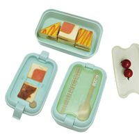 Wholesale Custom food grade bamboo fiber Lunch box contains thumbnail image